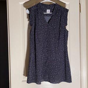 Cabi dark blue with light blue blouse large